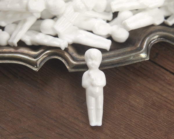 Miniature Plastic Dolls - Tiny Unpainted White Baby Doll Figurines