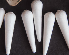 Mini Spun Cotton Icicles - Vintage-Style Icicle Ornament Shapes, 8 Pcs.