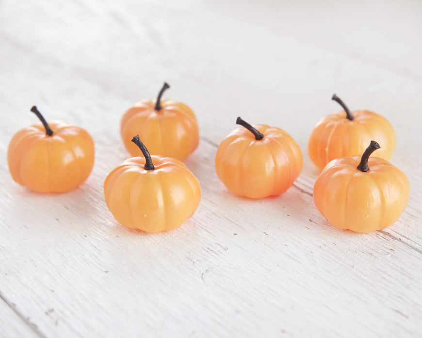 miniature plastic pumpkins 6 cute pumpkins for halloween and fall crafts - Plastic Pumpkins