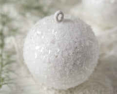 Spun Cotton Snowballs - 3 White Christmas Ornaments