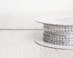 Silver Trim - Vintage Style Metallic Braid Picot Ribbon, 25 Yds