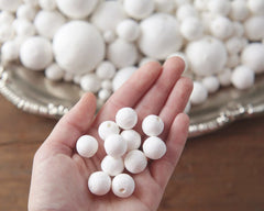 Spun Cotton Balls, Vintage-Style Craft Shapes