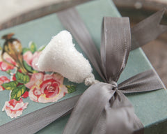 Sugar Bell Picks - Spun Cotton Retro Craft Stems with Glass Glitter