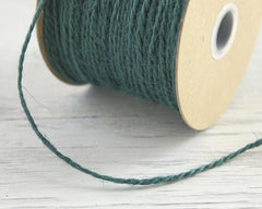 Emerald Green Twine - 2 Ply Jute, 100 Yard Spool