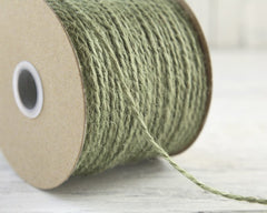 Moss Green Craft Twine - 2 Ply Jute, 100 Yard Spool