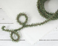 Wired Greenery Garland - 25 Feet, Christmas Pine Trim