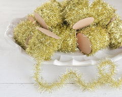 yellow tinsel garland