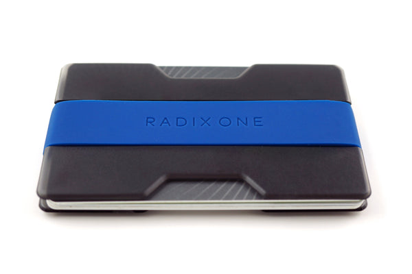 radix one slim wallet smoke / dark blue