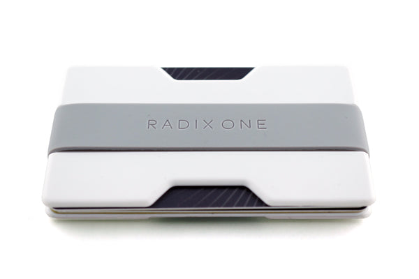 Radix One Slim Wallet - White/Grey