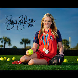 8x10 Jennie Finch Medal Picture - Signed