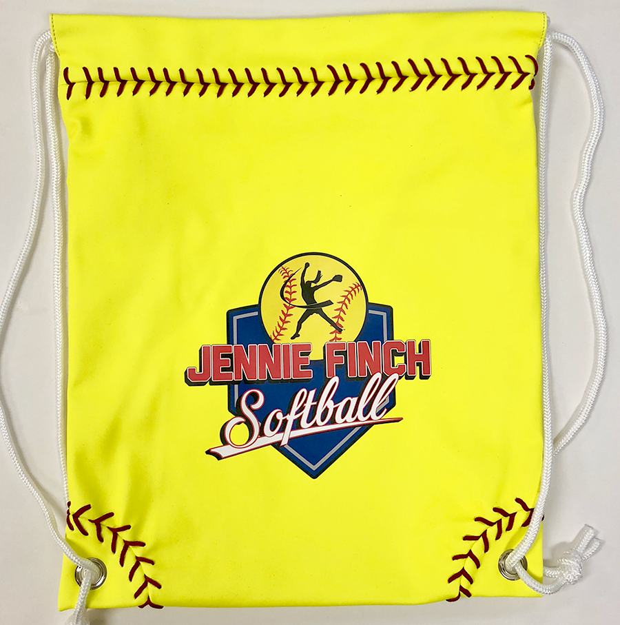 Neon Yellow Softball Drawstring Bag w/ JF Softball Logo