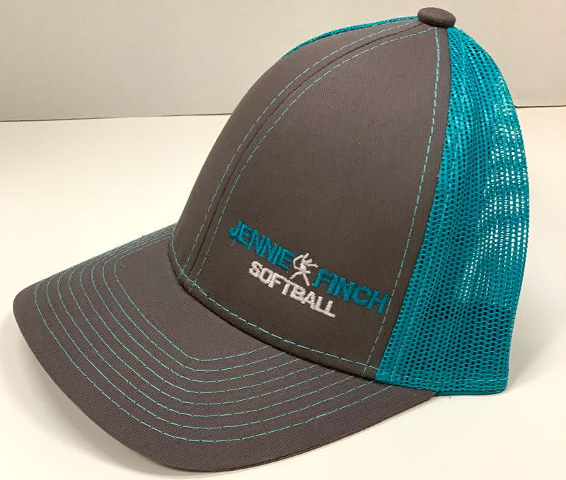 Gray & Teal JF Softball Hat