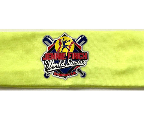 Jennie Finch World Series Logo Stretch Sports Headband