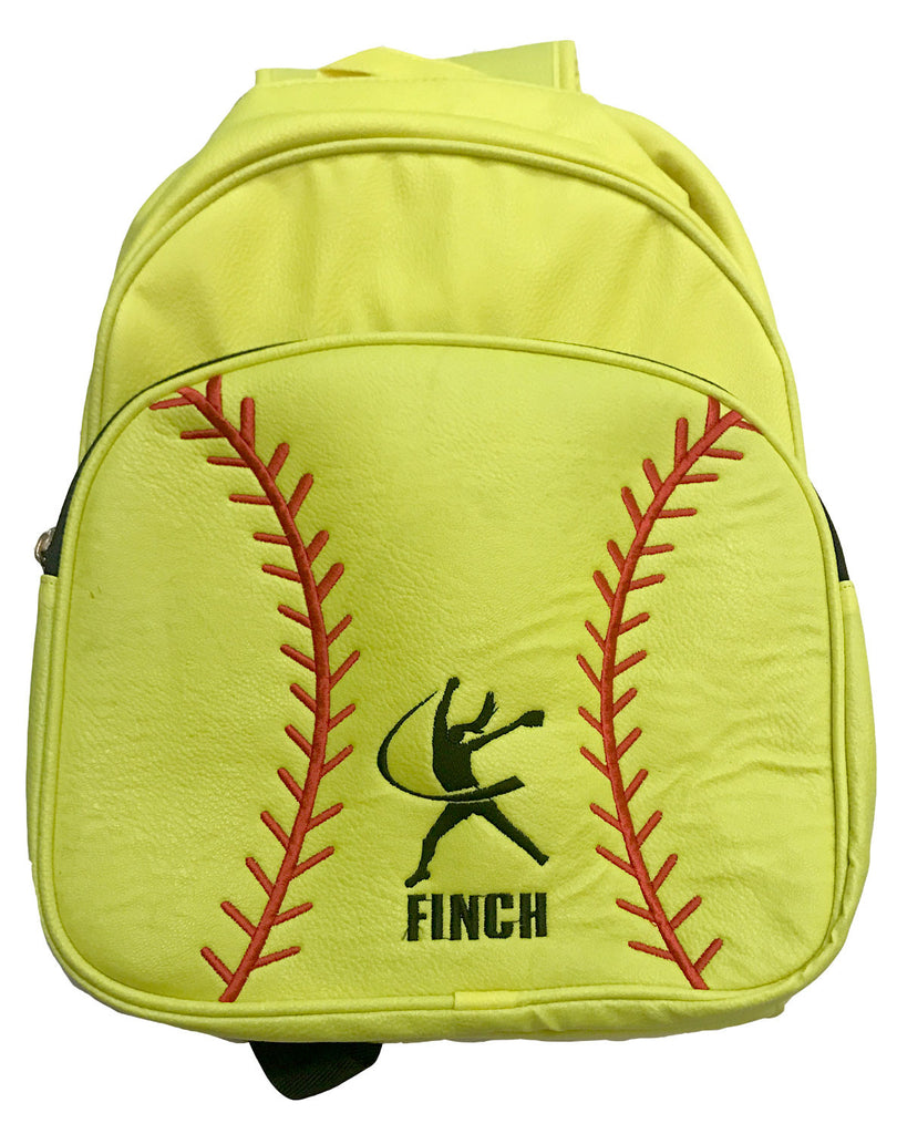 Neon Yellow Softball Backpack