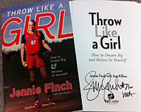 Book: Throw Like a Girl - Autographed by Jennie