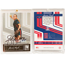 Jennie Finch Autographed Softball Card-AZ