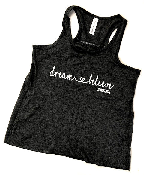 Dream & Believe Bella Tank Top - Black