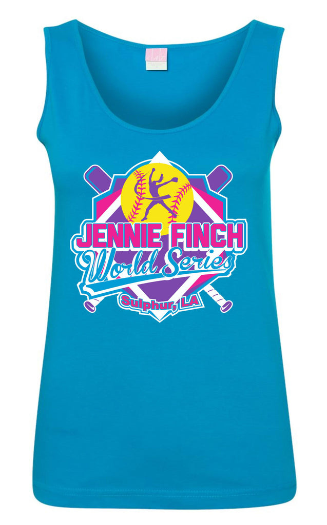 JF World Series Tank Top - Aqua Blue