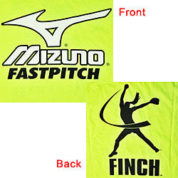 Optic Yellow Mizuno Finch T-Shirt