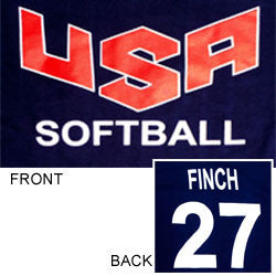 USA Softball Replica Jersey T-Shirt- Navy Blue