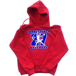 Red Jennie Finch 27 Softball Hoodie
