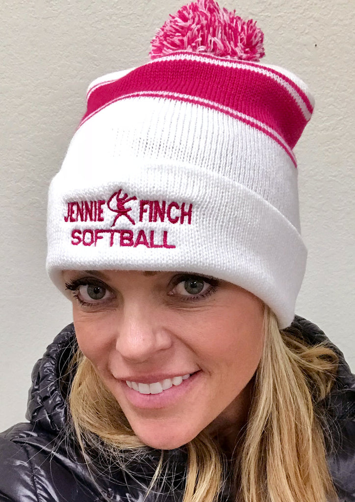 Jennie Finch Softball Beanie Hat (2 Color Options)