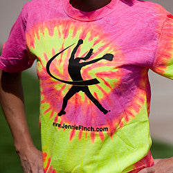 Tie Dye Jennie Finch Logo T-Shirt