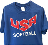 USA Softball Replica Jersey T-Shirt - Royal Blue