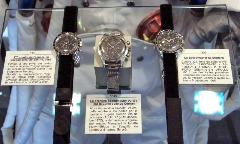 Omega Museum display with long watchband - Kizzi Precision Flightgear