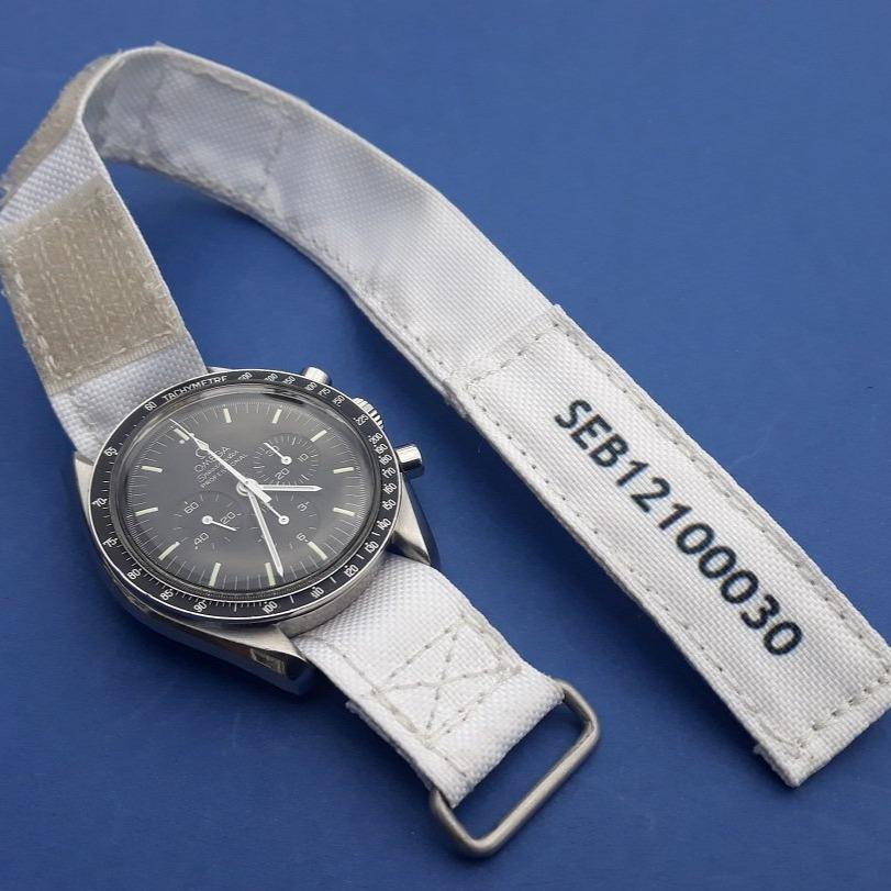 White NASA watch strap (beta cloth style) - Kizzi Precision Flightgear