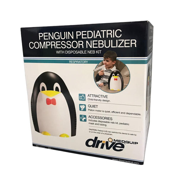 Drive Medical <br>Penguin Pediatric Nebulizer <br> w/ Disposable Neb Kit