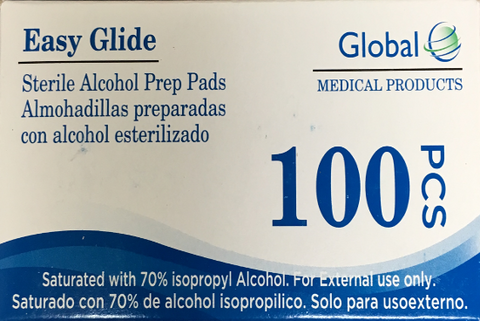 Global Alcohol Prep Pads<br>NDC: 90166-0111-03 <br>UPC: 890166111036