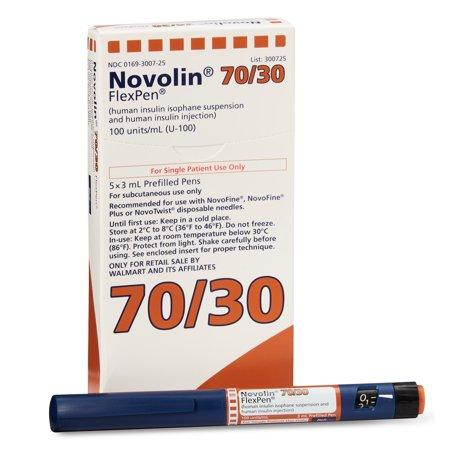 Novolin 70/30 FlexPen | U-100 Insulin</br> 5 x 3ml Prefilled Pens
