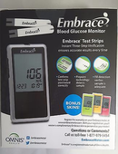 Embrace Blood Glucose Meter<br>NDC: 94030-0002-01<br> UPC: 894030002017