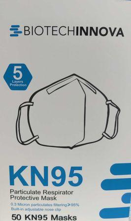 BIOTECHINNOVA KN95<br> Particulate Respirator<br> Protective Masks<br> 50 ct.