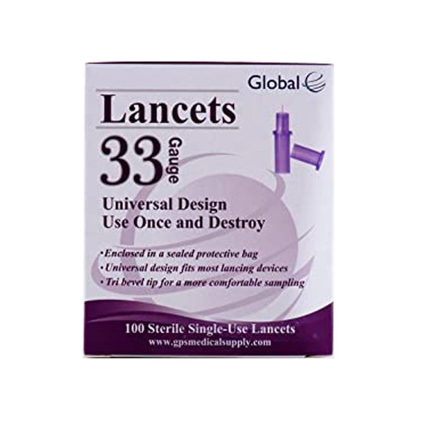 Global 33G Lancets - Pull Top 100 Count Box