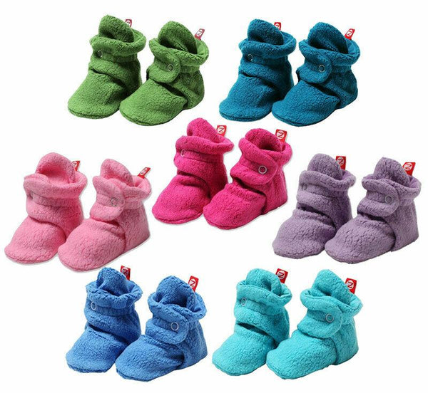 Set of 7 Zutano Fleece Baby Booties Socks