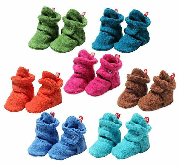 NEW Zutano Cozie <br>Fleece Baby Booties <br> Set of 7 <br>Size 12M / 6-12 Months