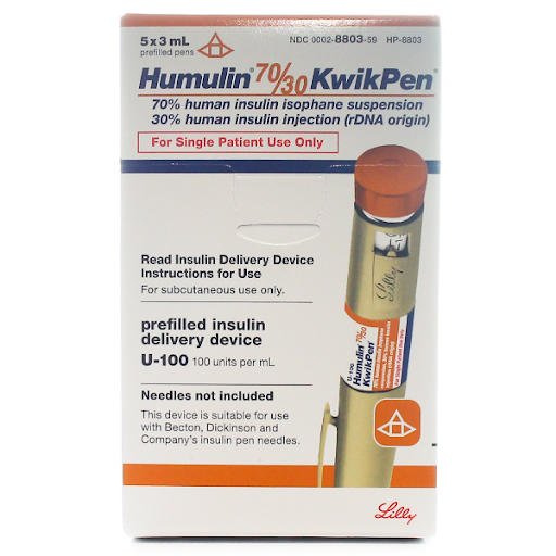 Humulin 70/30 KwikPen | U-100 Insulin</br>5 x 3ml Prefilled Pens