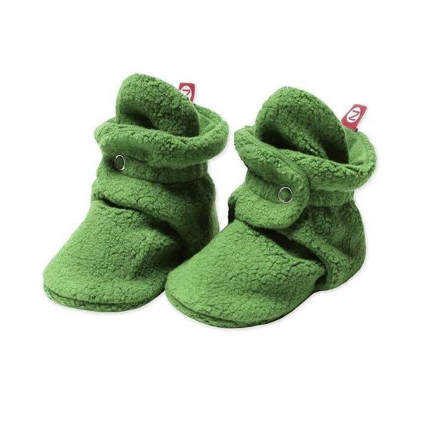 Zutano Baby Booties <br>Green Apple