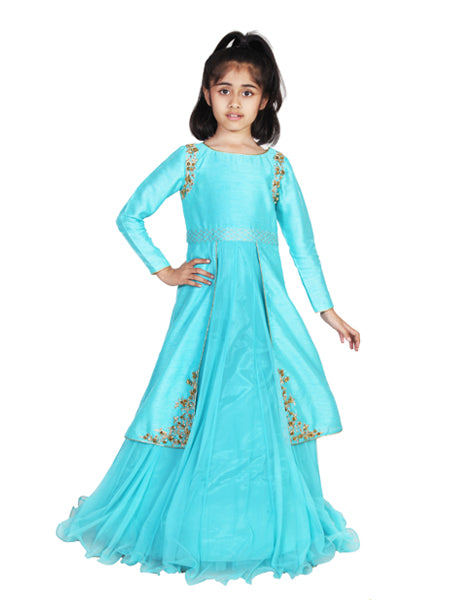 Blue Indian Roses Gown