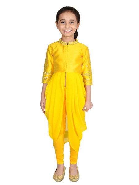 Indo western Yellow outfit.
