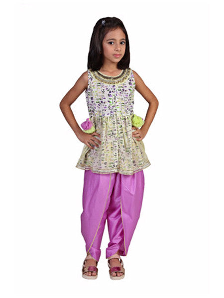 Floral shirt with Dhoti pants