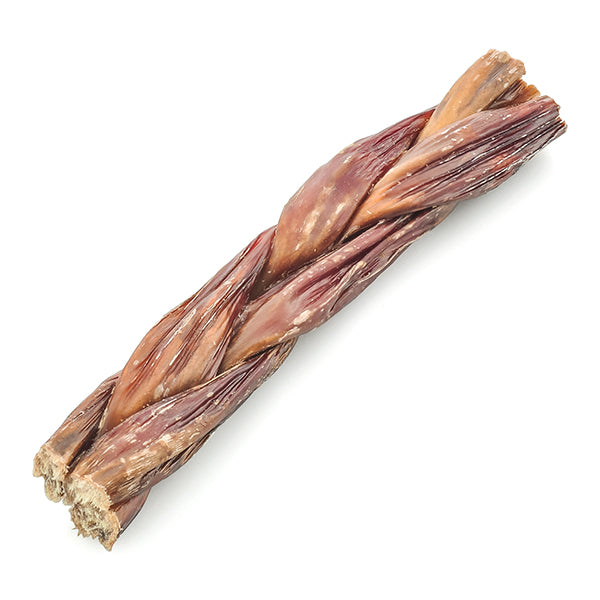 BRAIDED BEEF GULLET, 100 % NATURAL DOG TREAT/CHEW 100g