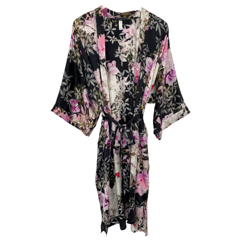 Samantha Chang Classic Silk Printed Robe