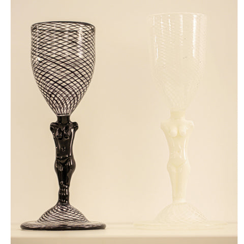 Reticello Goblet White - SOLD