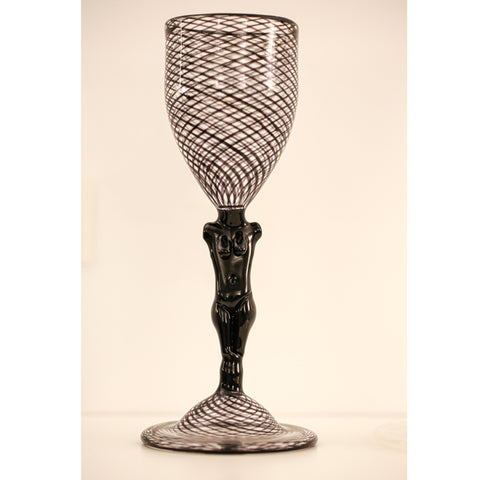 Reticello Goblet Black - SOLD