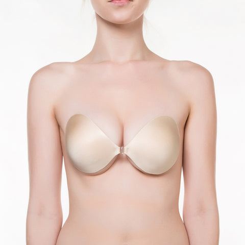 NuBra Seamless Push Up Backless Sticky Bra
