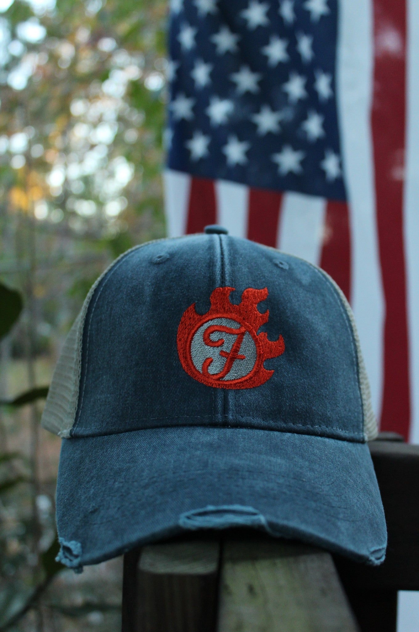 Fiercely Burning Snapback- Denim