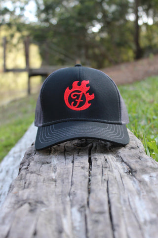 Fiercely Burning Black Smoke Snapback